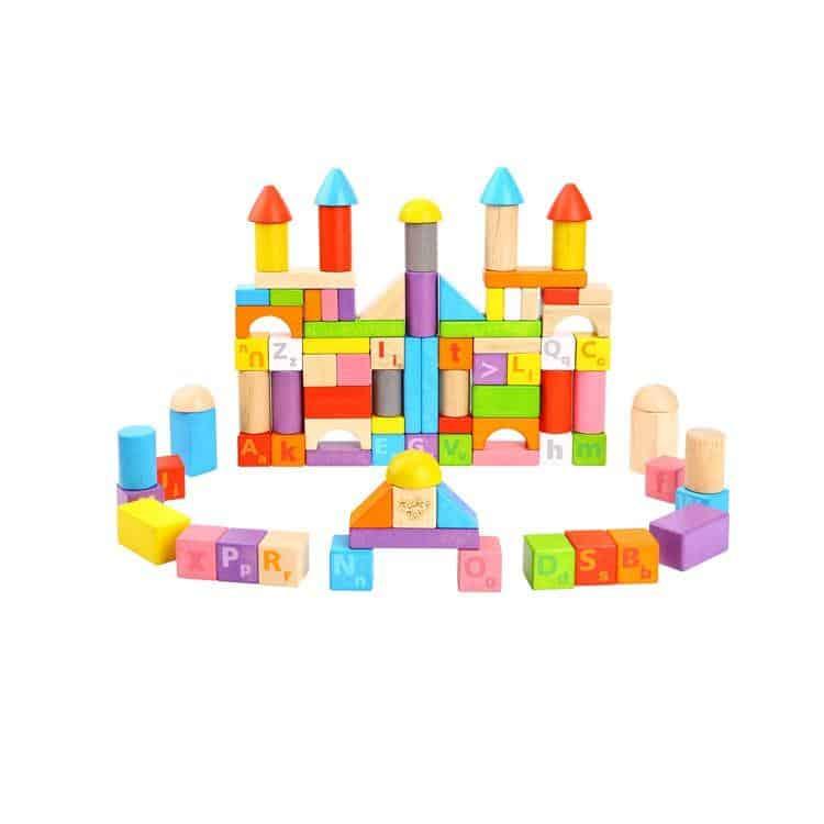 135pcs Blocks- Rubber Wood Tooky Toy