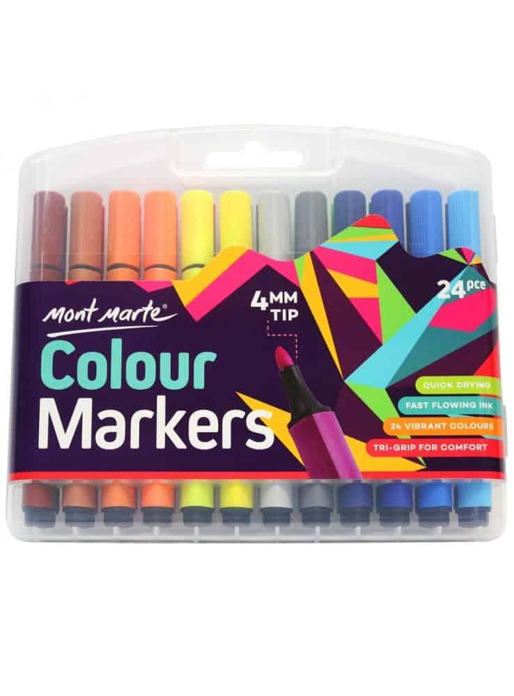 Colour Markers 24 pcs in Case September 2021