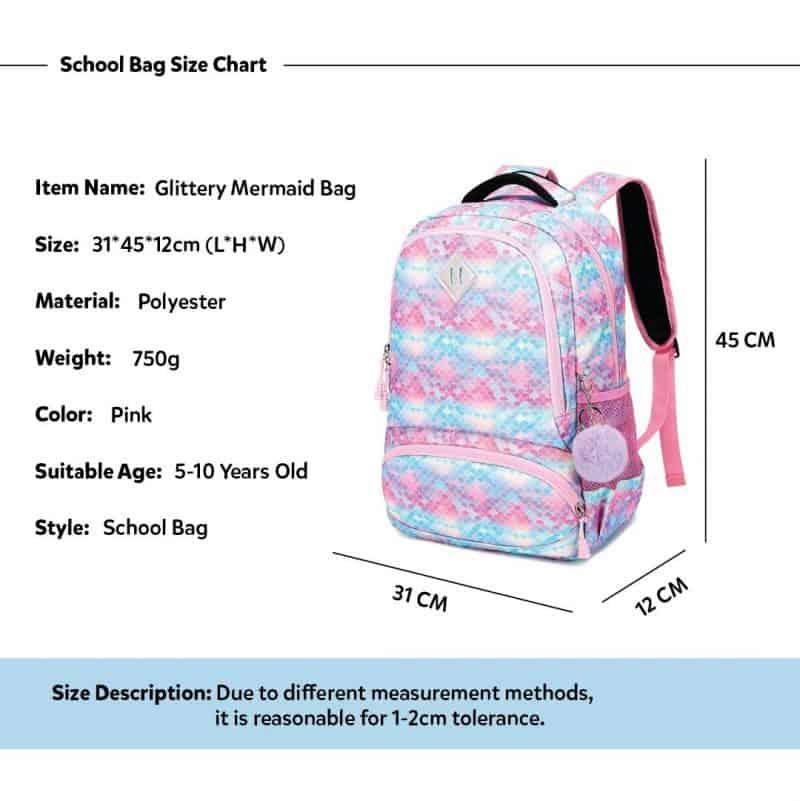 Mermaid School Bagpack Trio Kids Singapore