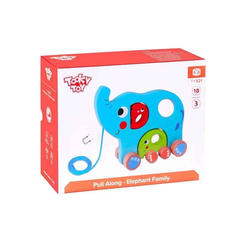 Pull Along - Elephant Family Tooky Toy