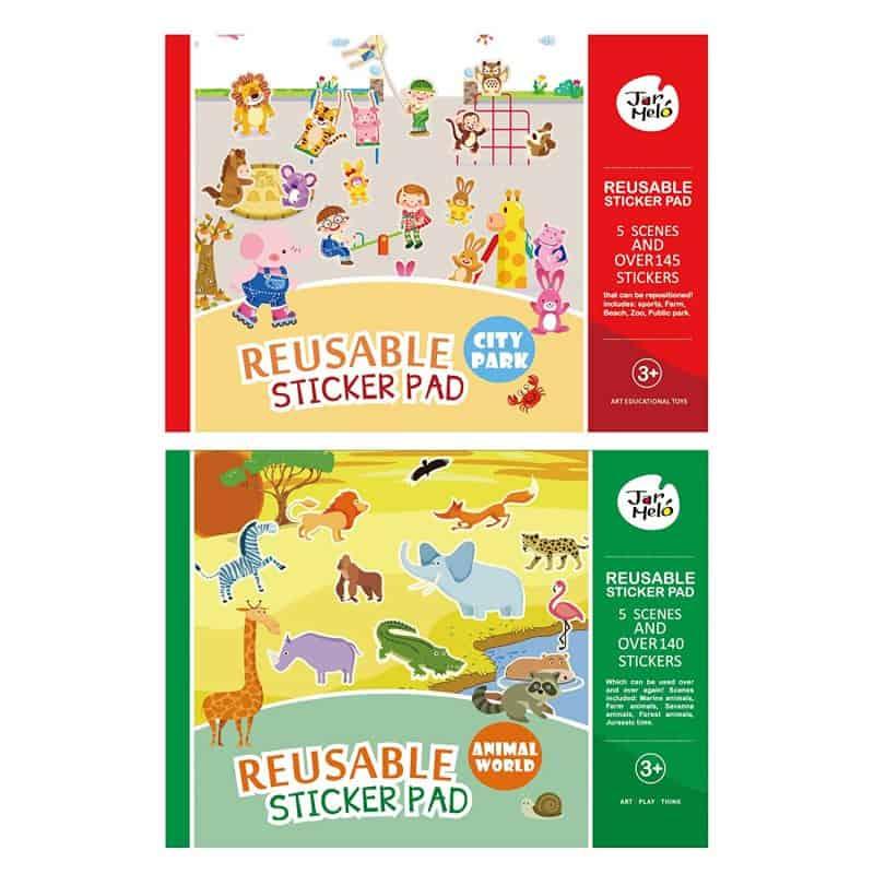 Reusable Sticker Pad Set JarMelo