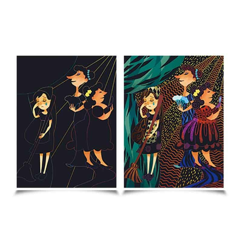 Scratch cards - Cinderella JarMelo