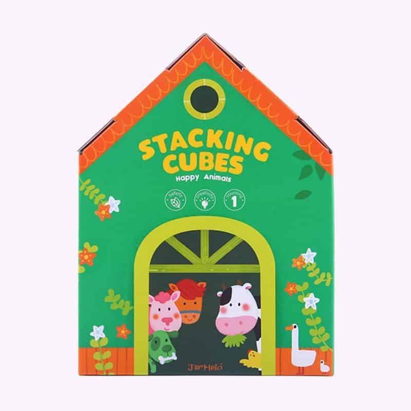 Stacking Cubes (Happy Animal) JarMelo