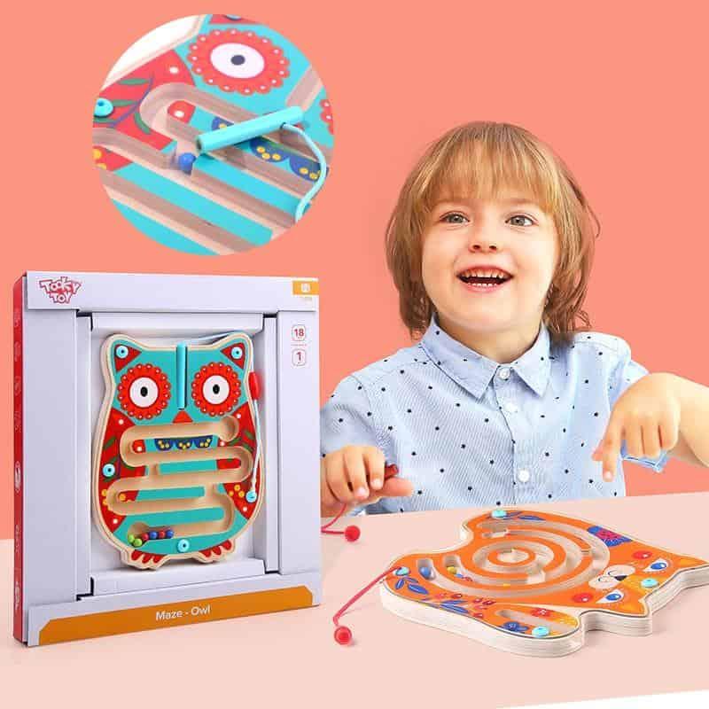 Wooden Maze Owl Tooky Toy
